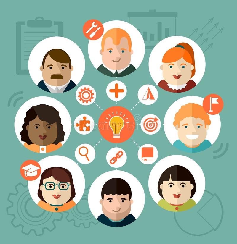 Individuele diversiteitsgrafiek stock illustratie