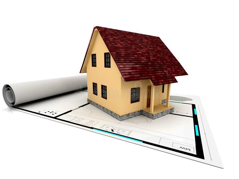 individuell planförsäljning för hus royaltyfri illustrationer