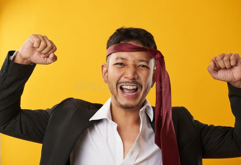 Individuo borracho feliz fotografía de archivo libre de regalías