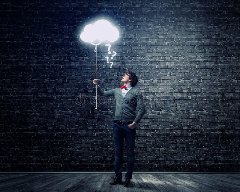 Individuo con el globo del concepto imagen de archivo libre de regalías