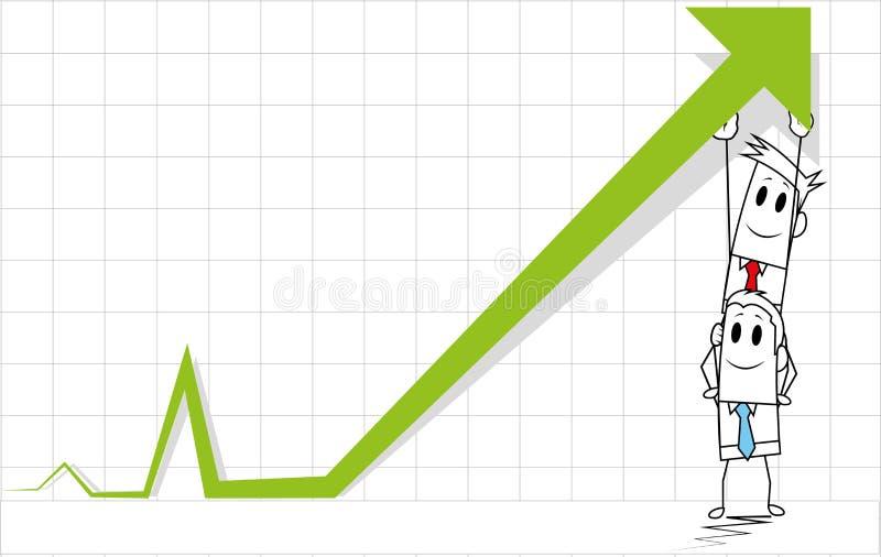 Individuo-custodia cuadrada arriba ilustración del vector