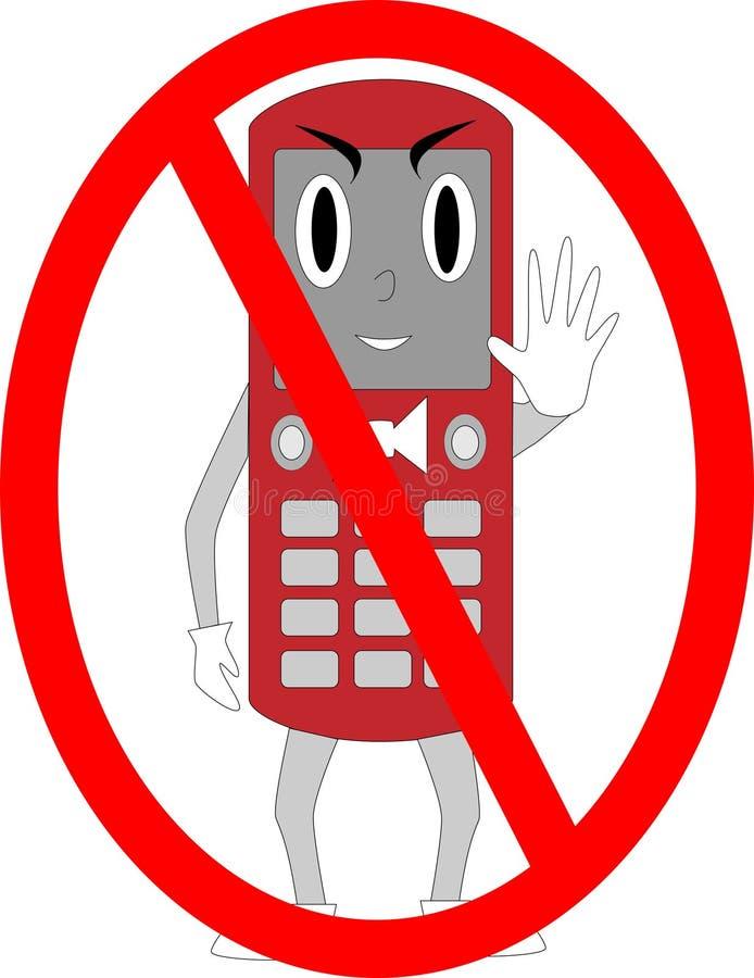 Individuo de la célula ningunos teléfonos libre illustration