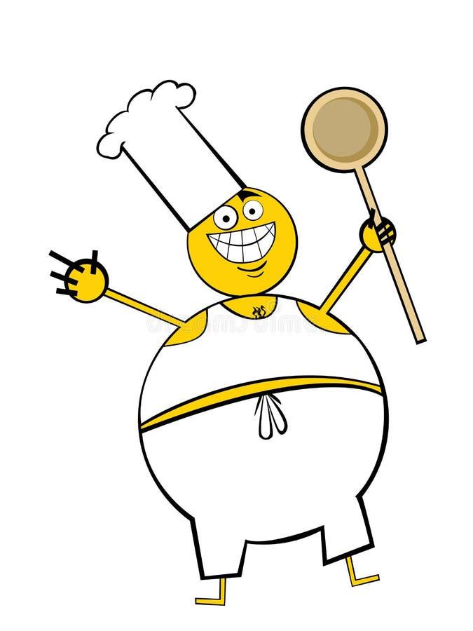 Individuo de la grasa para cocinar stock de ilustración