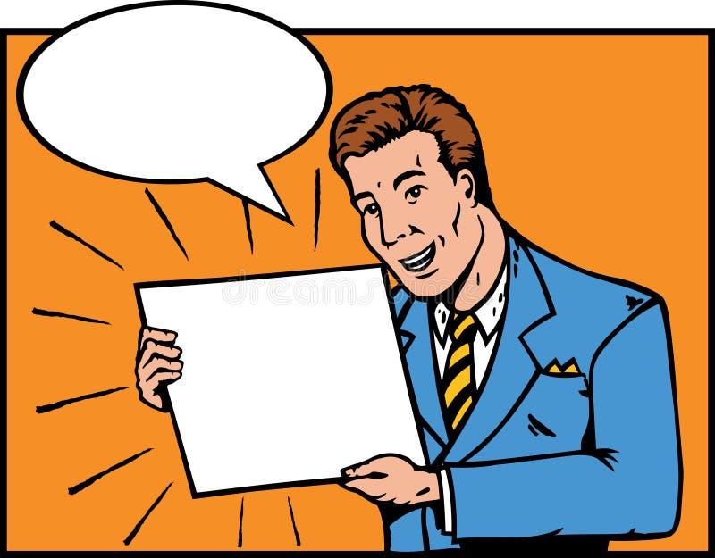 Individuo de las ventas ilustración del vector