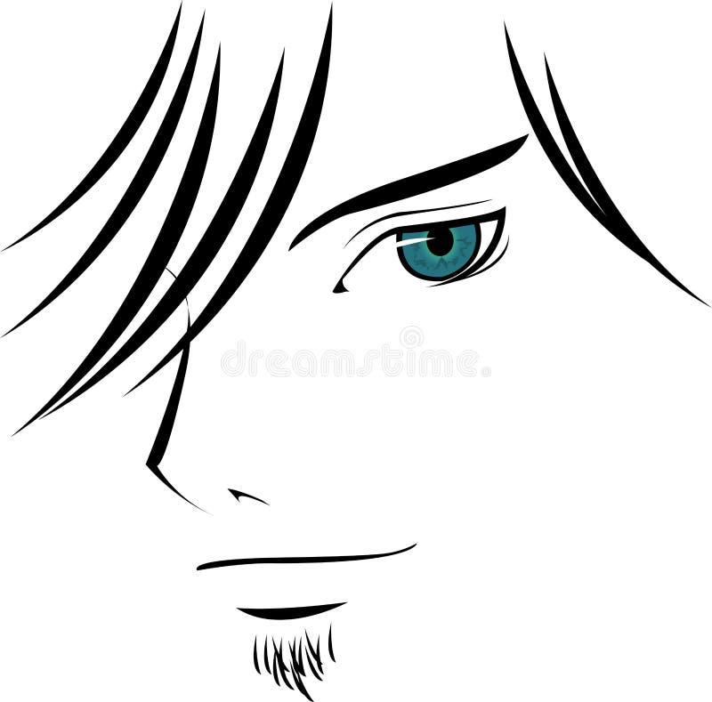 Individuo de mirada atractivo libre illustration