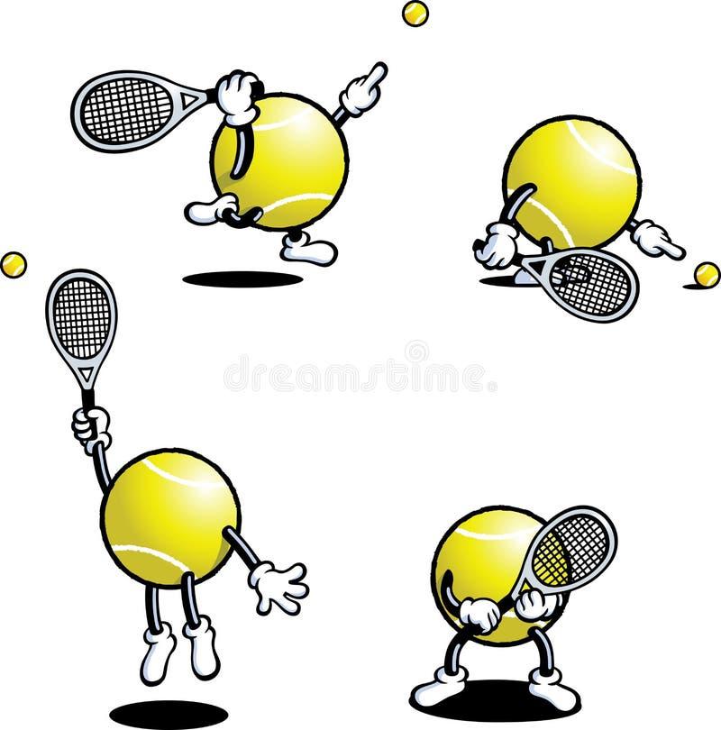 Individuo del tenis ilustración del vector