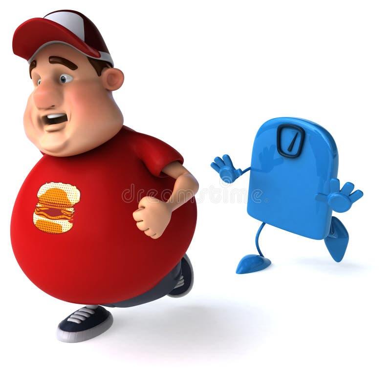 Individuo gordo stock de ilustración