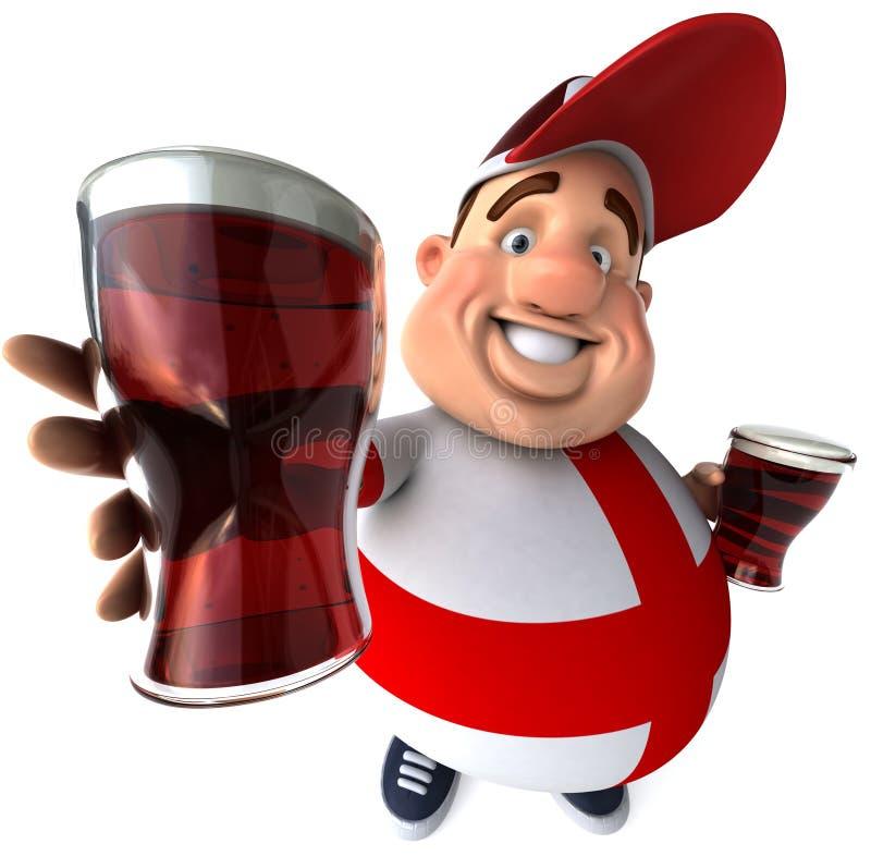 Individuo inglés con las cervezas libre illustration