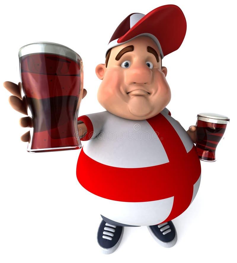 Individuo inglés con las cervezas stock de ilustración