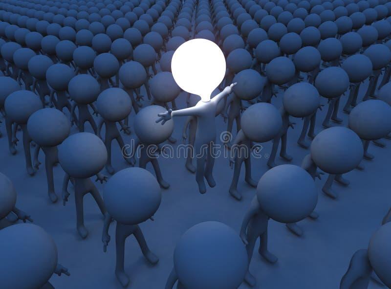 Individuo inspirado ilustración del vector