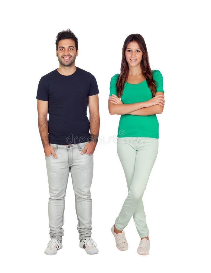 Individuo masculino casual y mujer bastante joven imagenes de archivo