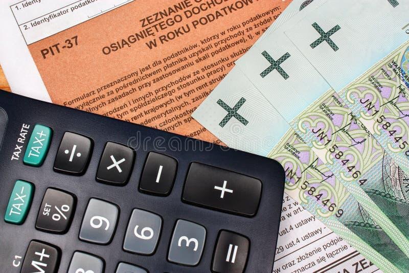 Individuo polaco del impuesto imagen de archivo