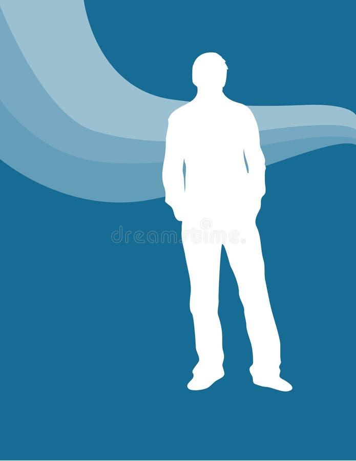 Individuo retro ilustración del vector