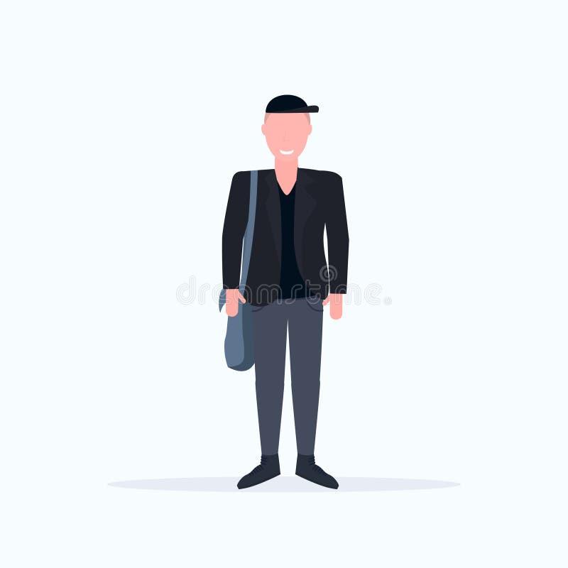 Individuo sonriente del hombre de la actitud casual feliz de la situación que lleva la ropa formal de moda que lleva a cabo el p libre illustration