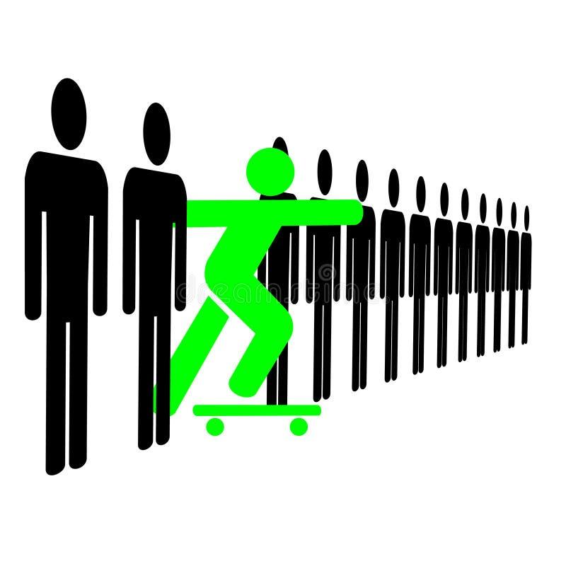 Individuo sul pattino illustrazione di stock