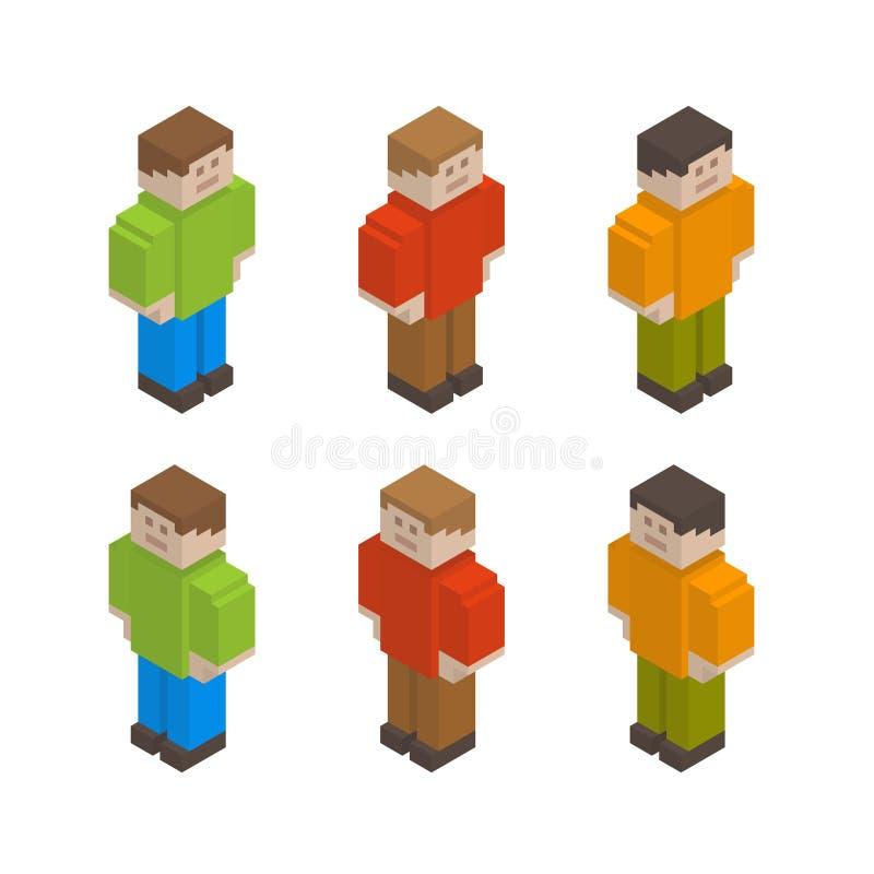 Individuos del pixel ilustración del vector