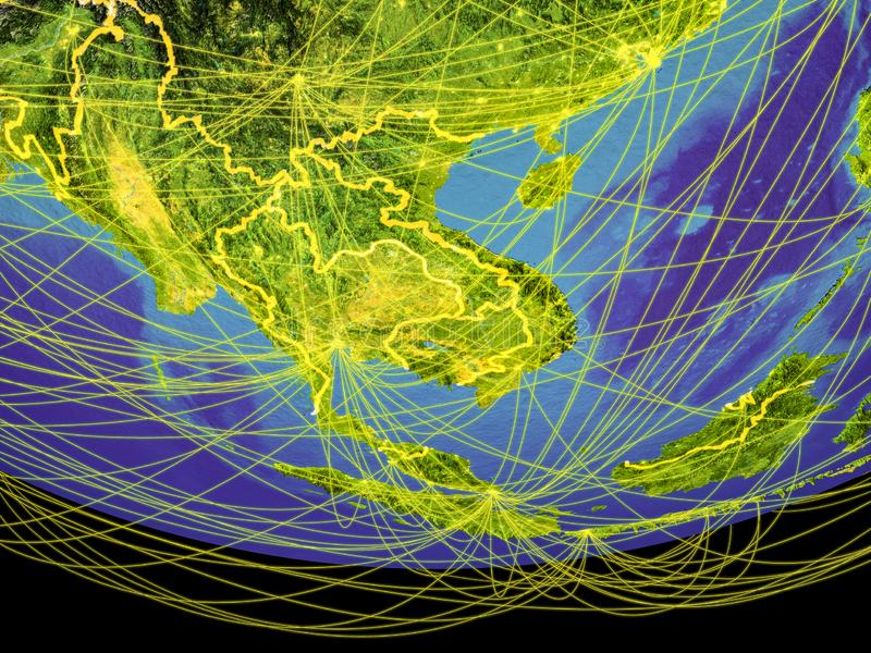 Indochina del espacio en la tierra libre illustration