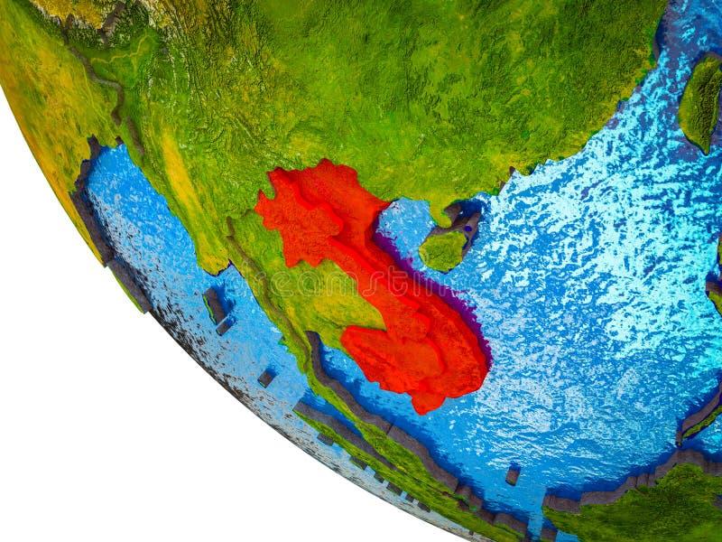 Indochina en la tierra 3D libre illustration
