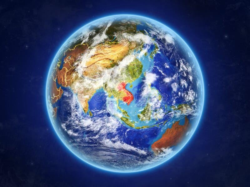 Indochina en la tierra del espacio ilustración del vector