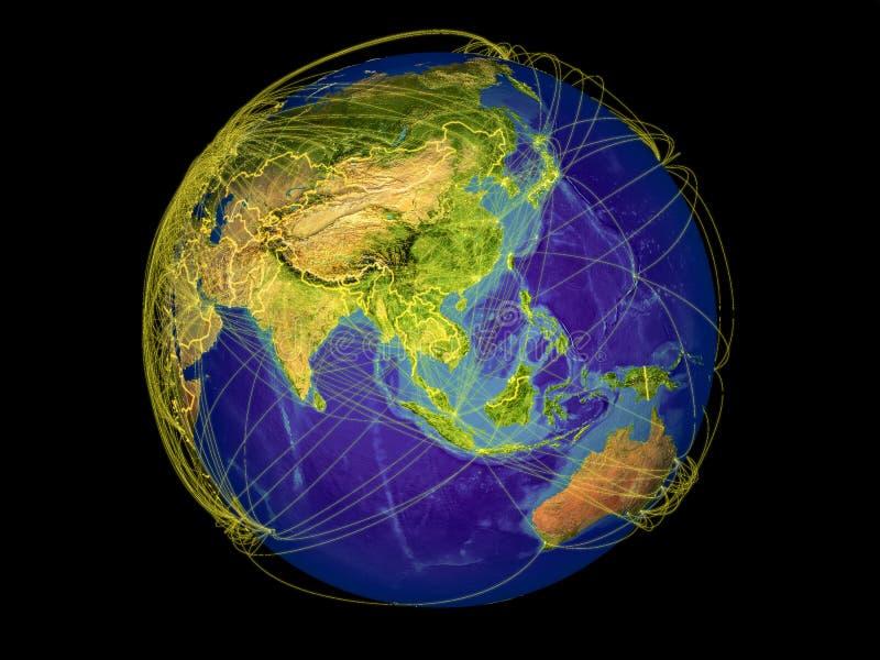Indochina en la tierra del espacio stock de ilustración