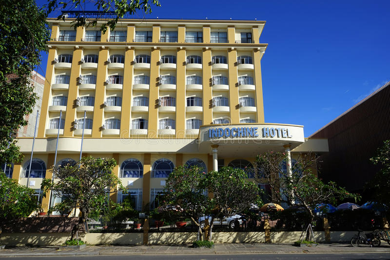 Indochine hotel w Kontum obraz royalty free