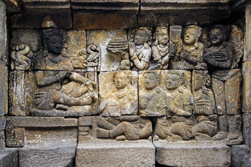 Indonésia, Java, Borobudur: Templo fotos de stock royalty free