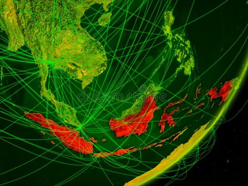 Indonésia na terra digital ilustração do vetor