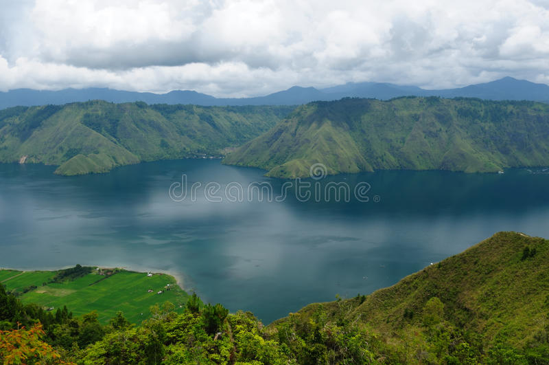 Indonésia, Sumatra norte, Danau Toba fotografia de stock
