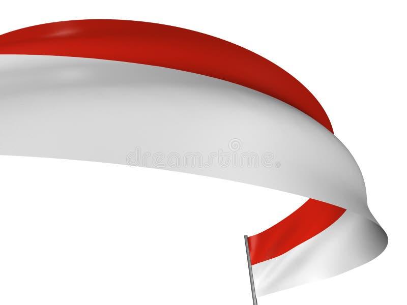 indones för flagga 3d royaltyfri illustrationer