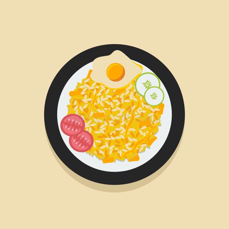 Indones Nasi Goreng royaltyfri illustrationer