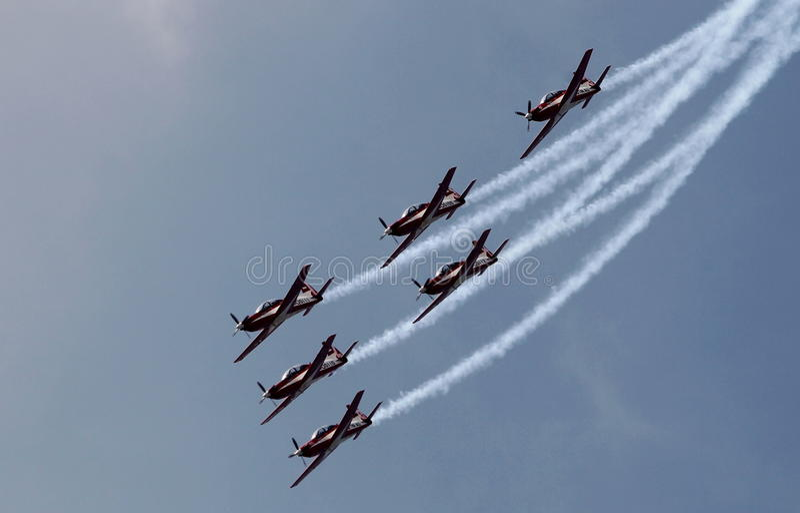 Indonesië Aerobatic Team Jupiter stock foto