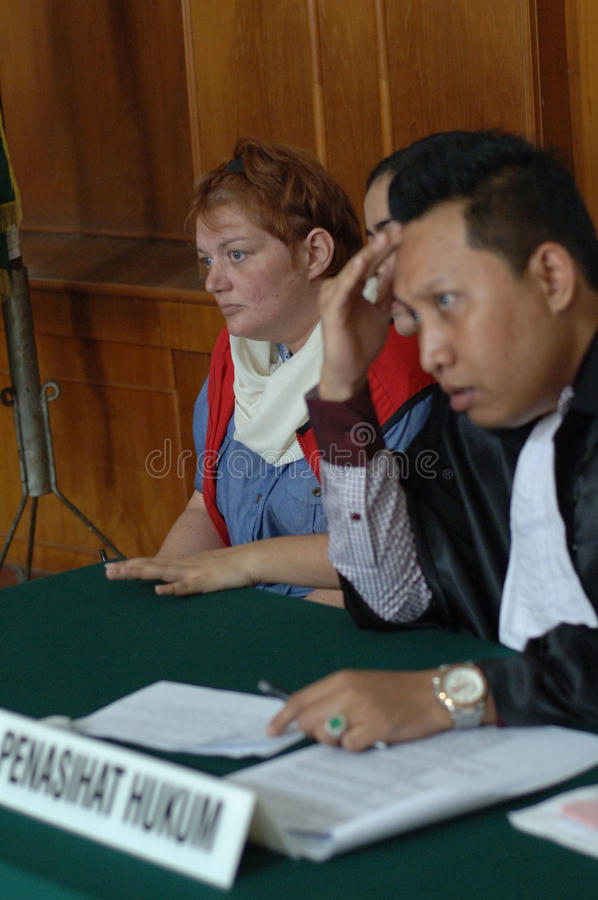Indonesië-Groot-Brittannië-hof-misdaad-DRUGS royalty-vrije stock afbeelding