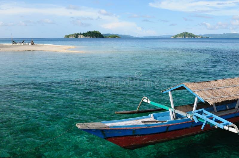 Indonesië, Sulawesi. De eilanden van Togean royalty-vrije stock foto's
