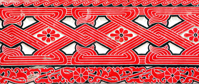 Indonesië, Sumatra: decoratie royalty-vrije stock afbeeldingen