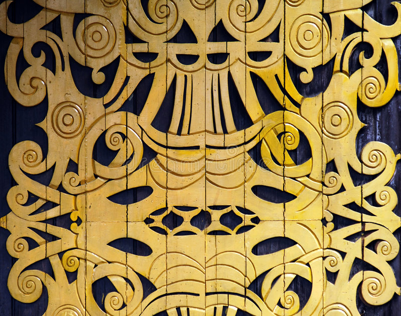 Indonesië, Sumatra: decoratie royalty-vrije stock afbeelding