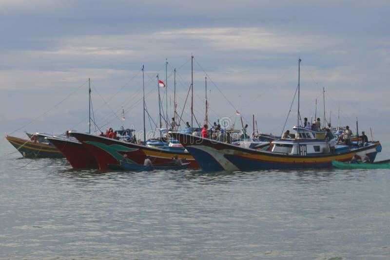 Indonesië: Visser in Aceh stock afbeelding