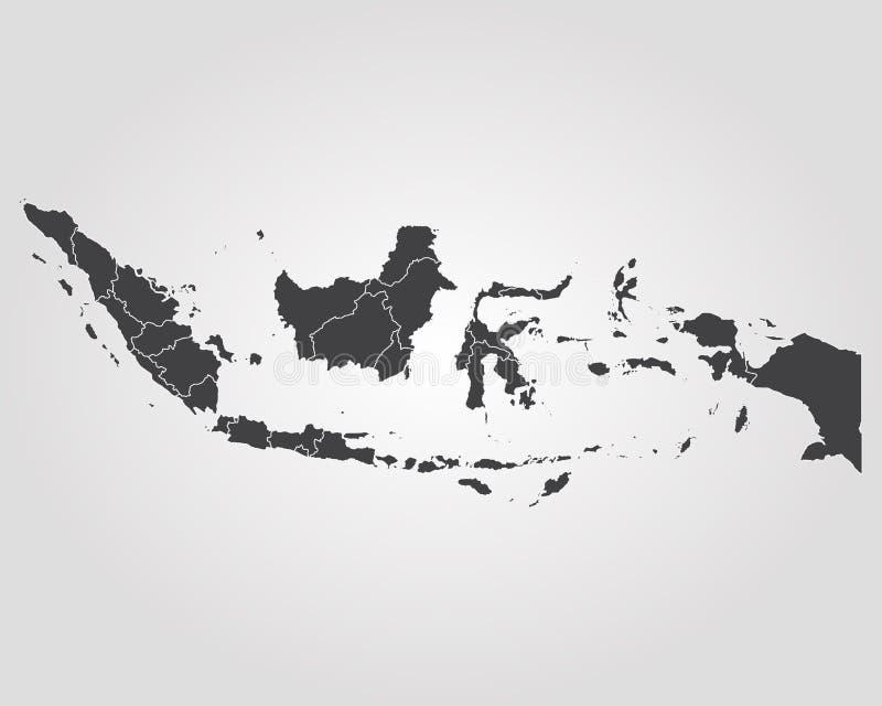 indonesia översikt royaltyfri illustrationer