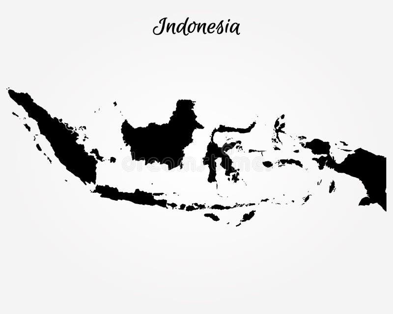 indonesia översikt vektor illustrationer