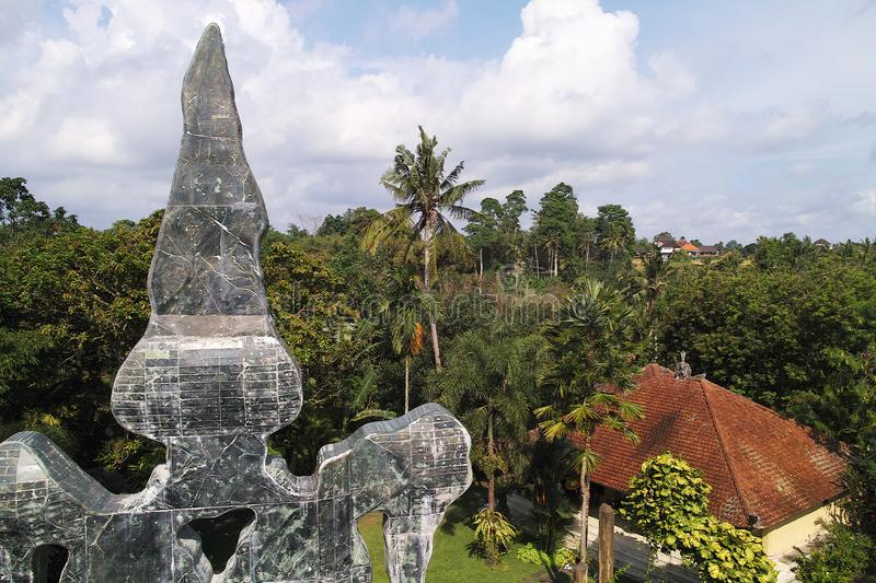View from Blanco Renaissance Museum. Indonesia, Bali, Ubud - Sep, 2014 : View from Blanco Renaissance Museum royalty free stock photography