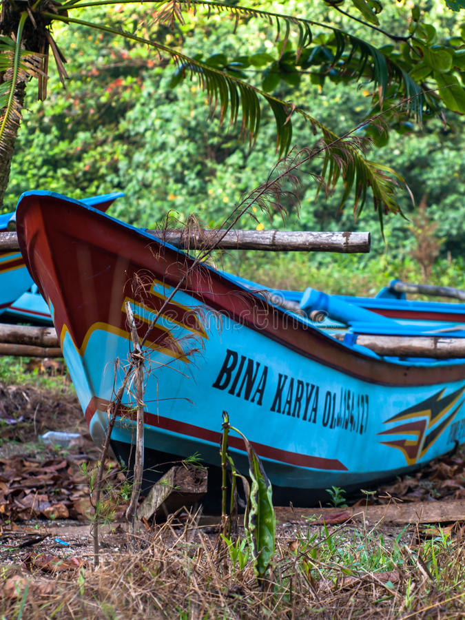 Indonesia boat. I took this photo on the beach peh pulo blitar indonesia royalty free stock images
