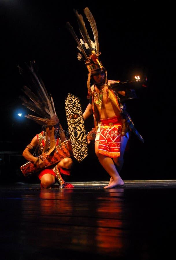 INDONESIA DAYAK BORNEO DANCE stock photo