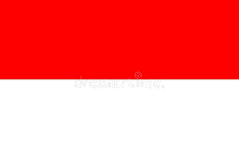 indonesia f?r bakgrundsflaggaillustration nationell white ocks? vektor f?r coreldrawillustration jakarta stock illustrationer