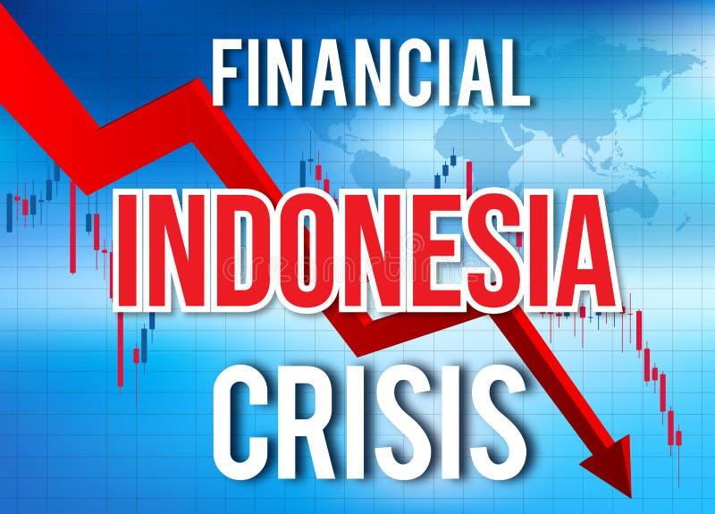 Indonesia Financial Crisis Economic Collapse Market Crash Global Meltdown. Illustration royalty free illustration