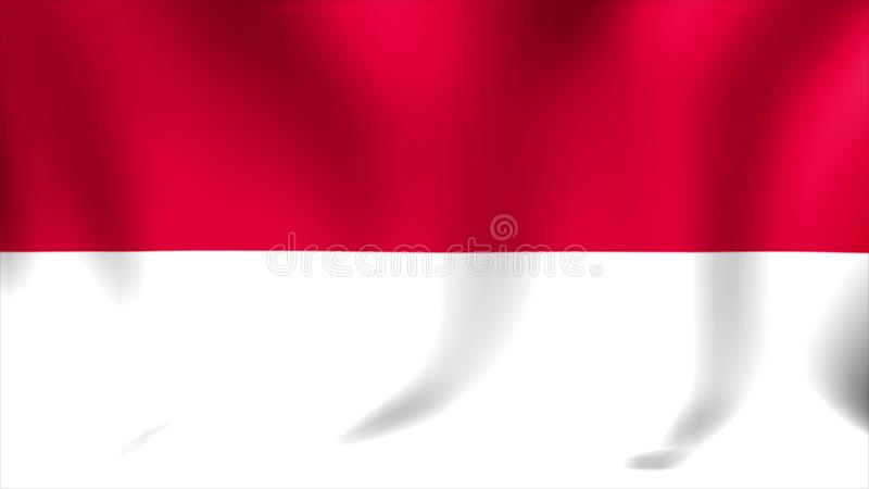 indonesia flag background seamless looping animation 4k high