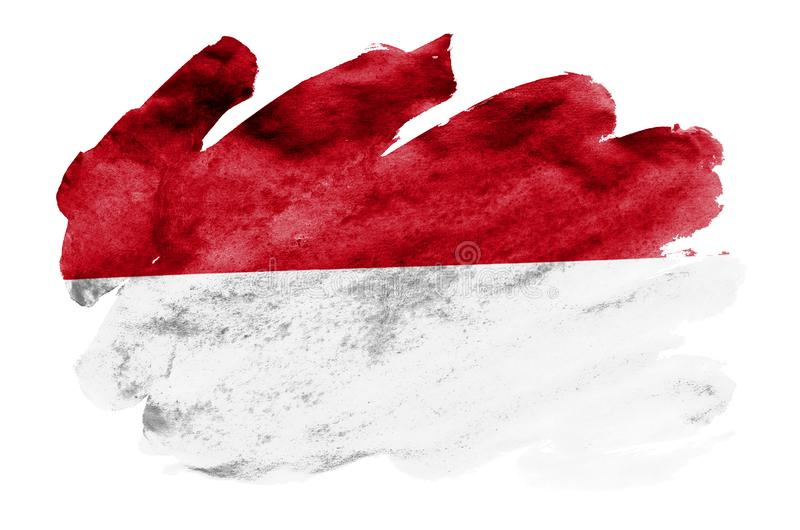 Indonesia flag is depicted in liquid watercolor style isolated on white background vector illustration