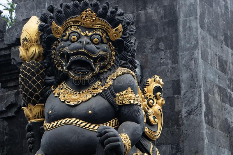 Indonesia god statue in front of bali temple.Traditional indonesian hindu symbol in ubud,Bali,Indonesia stock image