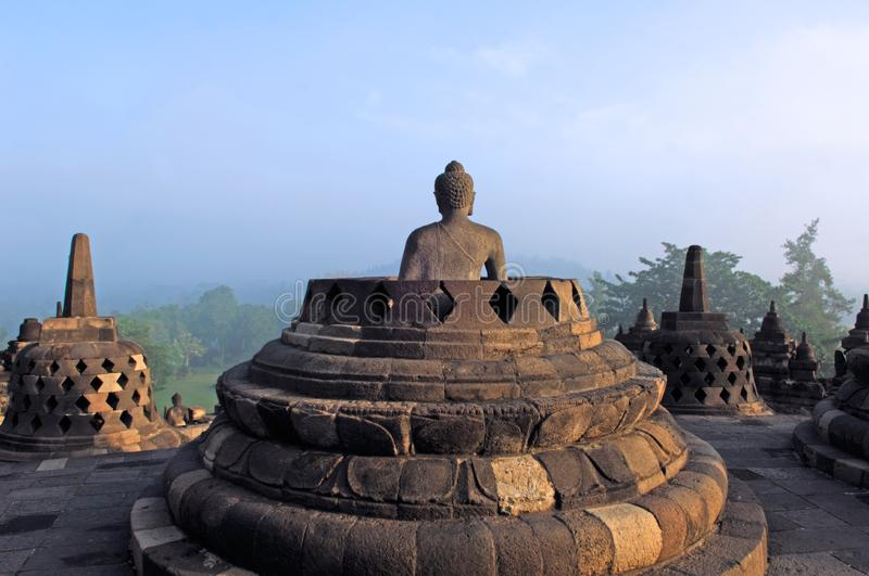 Indonesia, Java, Borobudur: Temple stock images