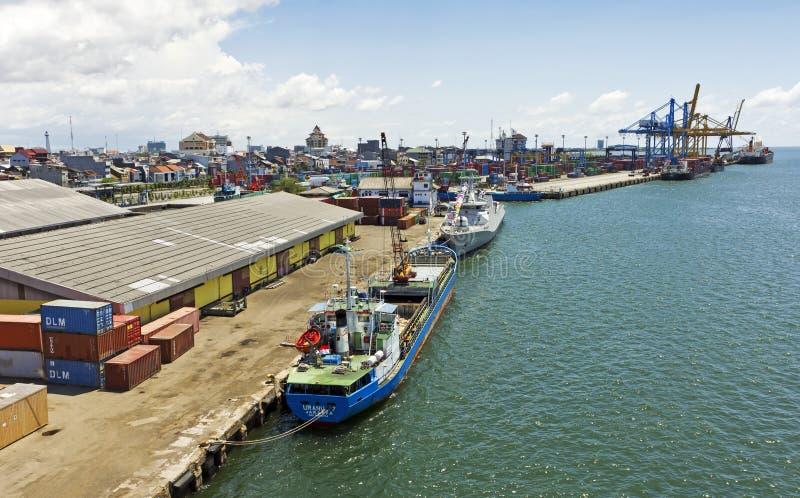 indonesia makassar port royaltyfria foton