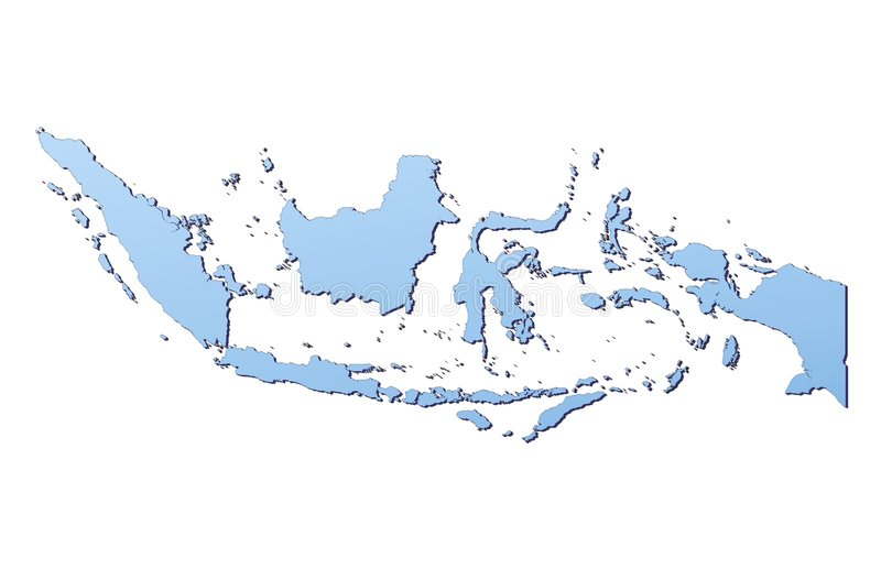 Indonesia map vector illustration
