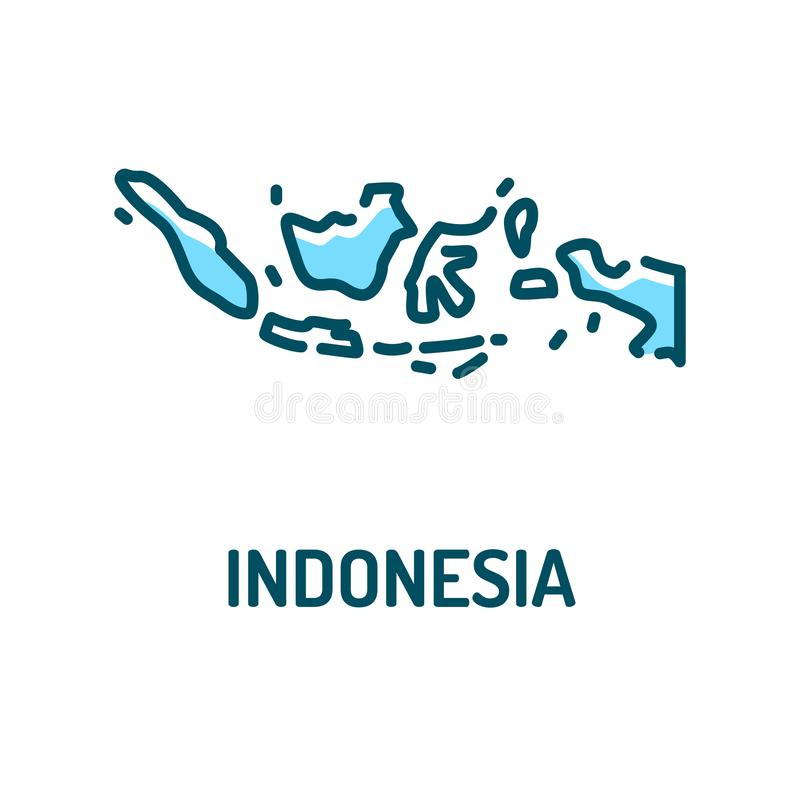 Download Indonesia Map Flat Design